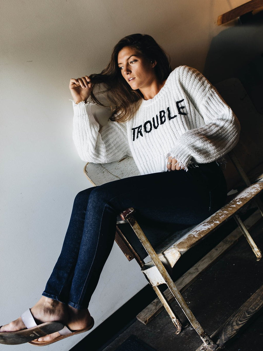 WILDFOX | Cropped Trouble Sweater