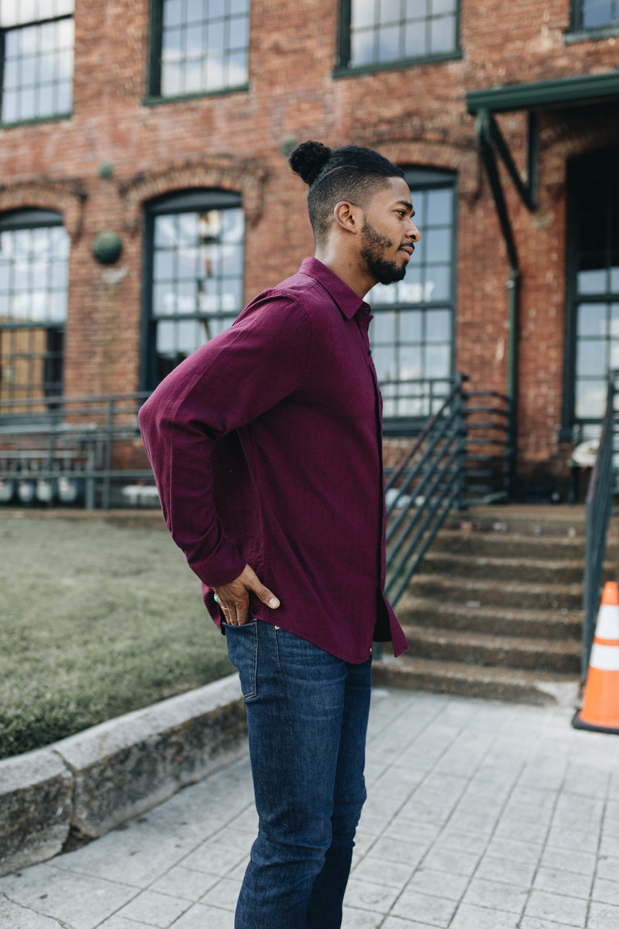 THE NORMAL BRAND | Burgundy Herringbone