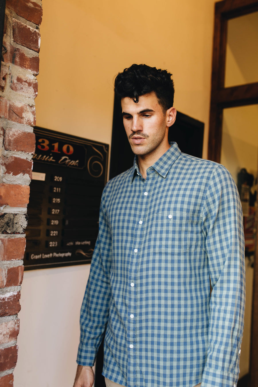 THE NORMAL BRAND | Steven Indigo Gingham