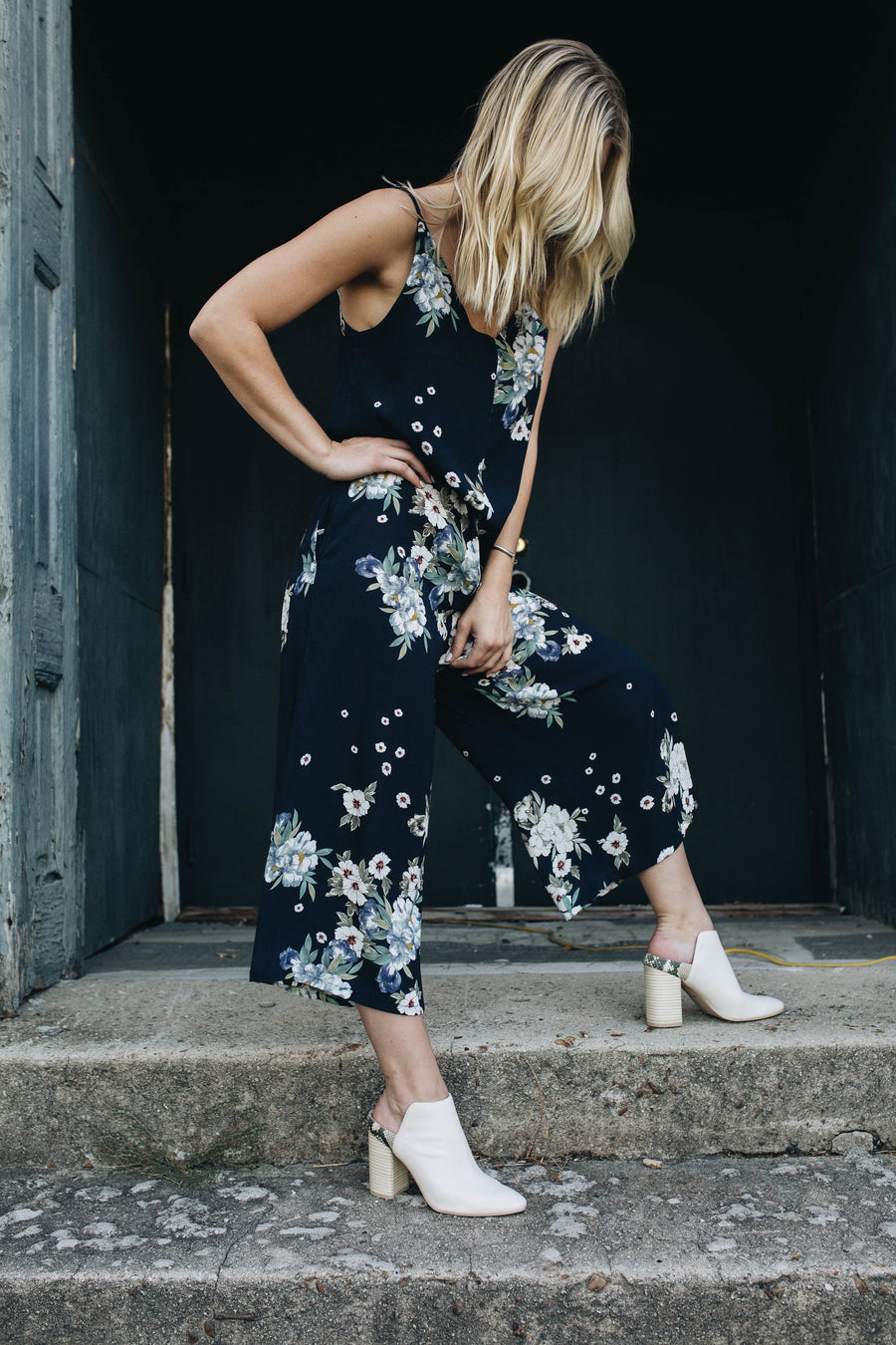 LACAUSA  | Midnight Floral Elsie Jumpsuit