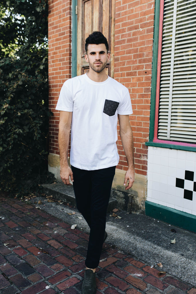 NAKED & FAMOUS | Black Pocket Tee