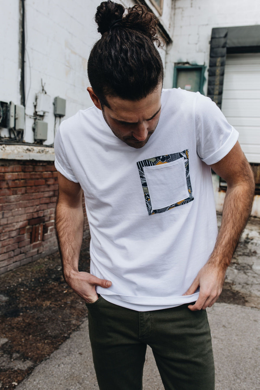 NATIVE YOUTH | Geoflora Pocket T-Shirt