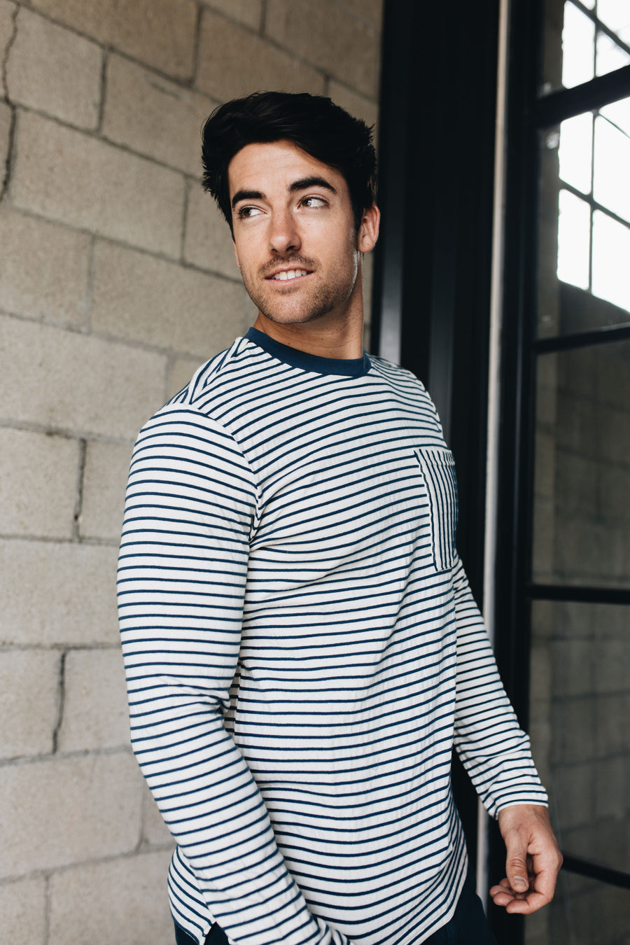 JACHS | STRIPE POCKET TEE