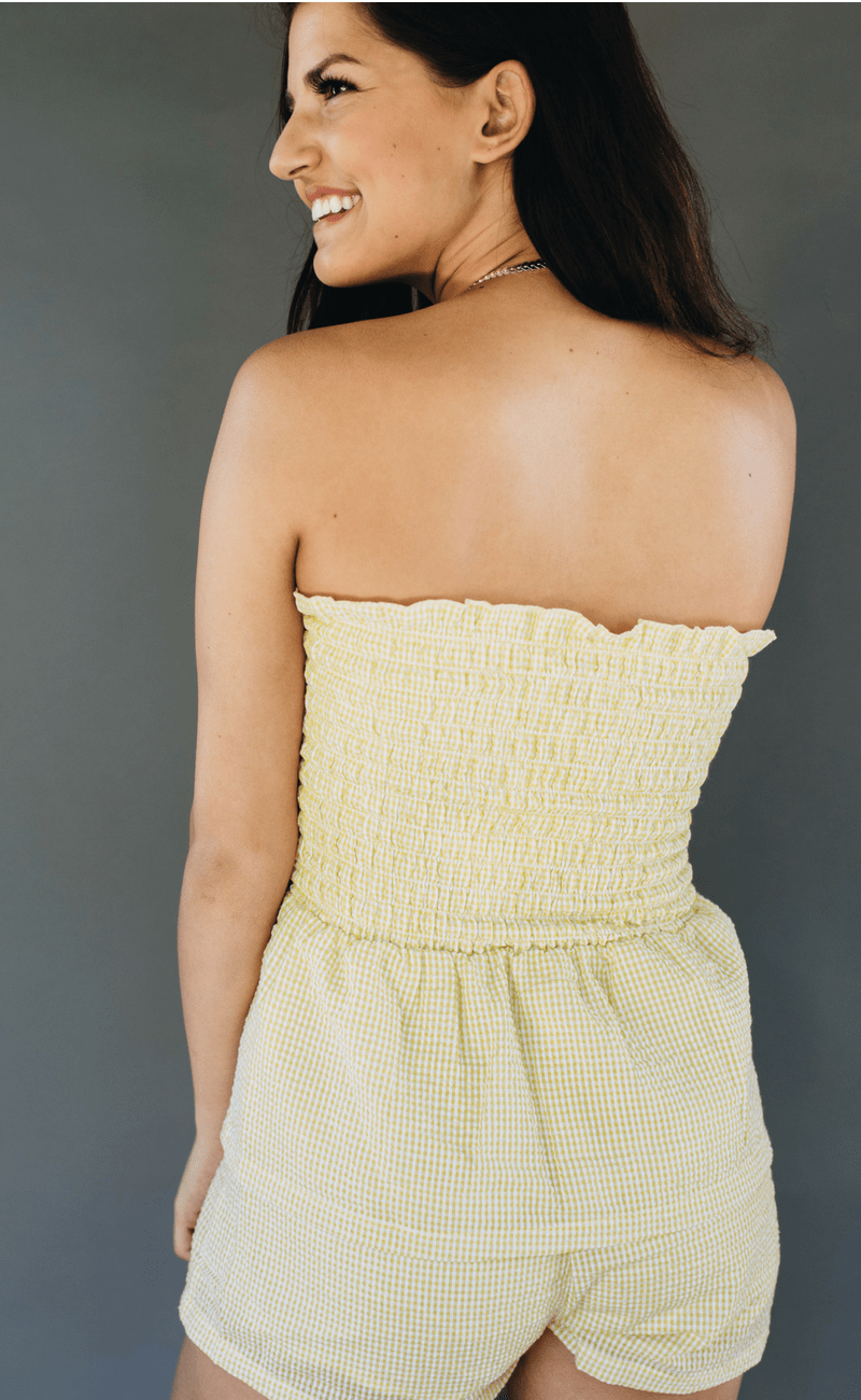 Mink Pink | Lemon Playsuit