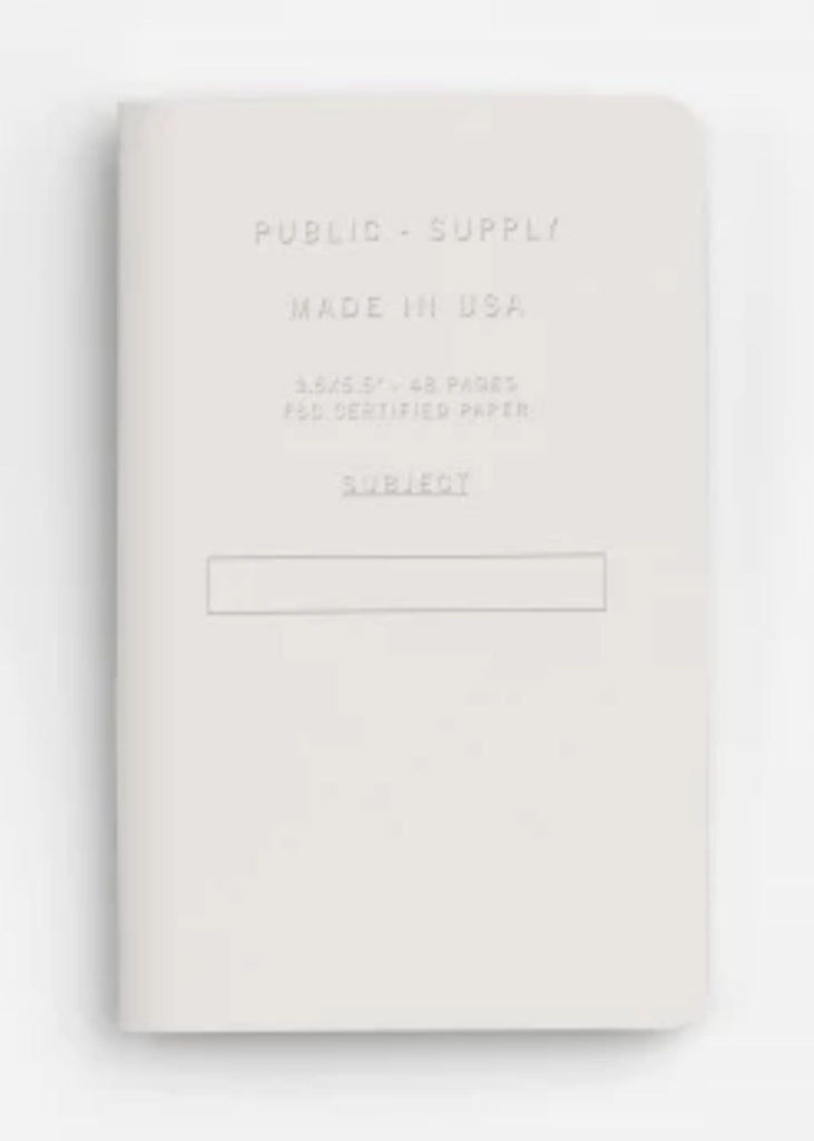 PUBLIC SUPPLY | 3 Pack 3.5x5.5 Pocket Journal