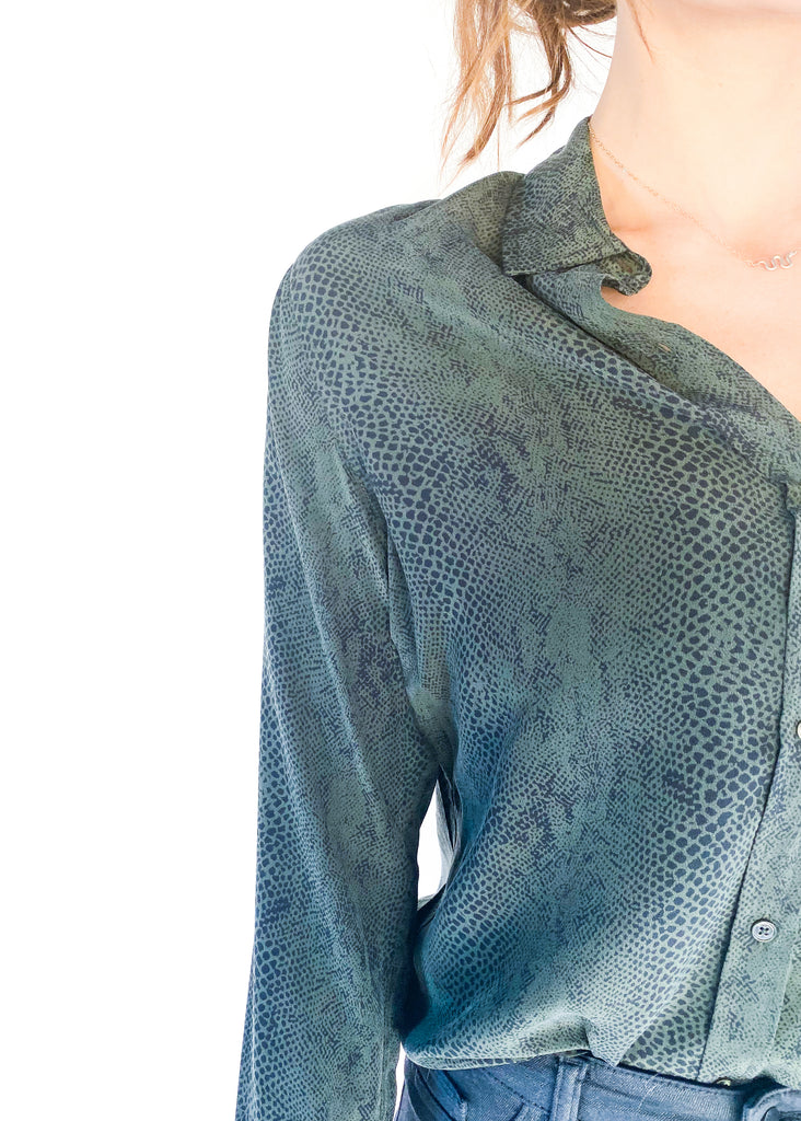 RAILS | Kate Python Print Top in Green