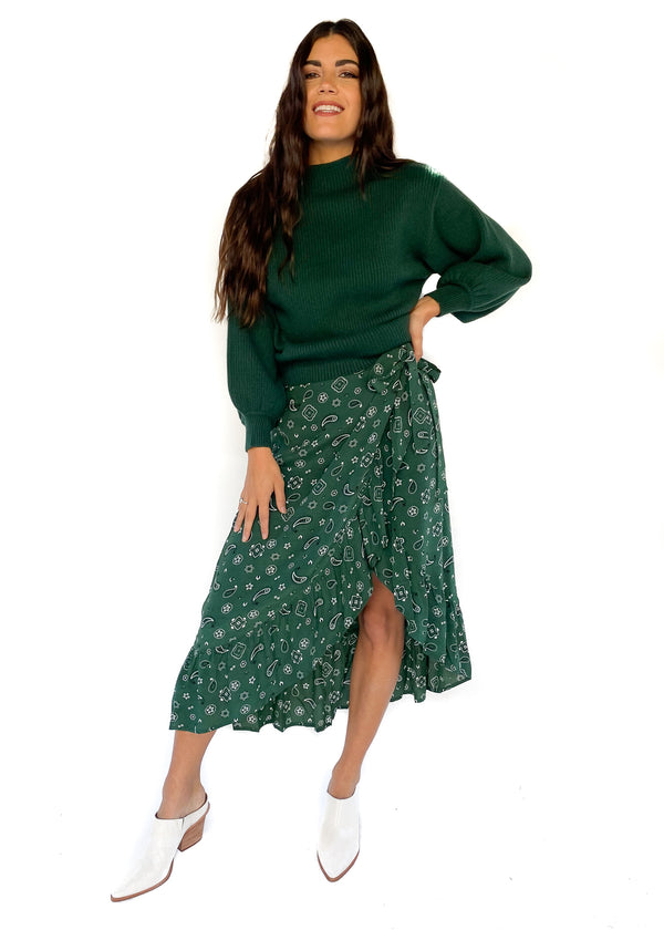 RAILS | Neptune Bandana Skirt in Forest