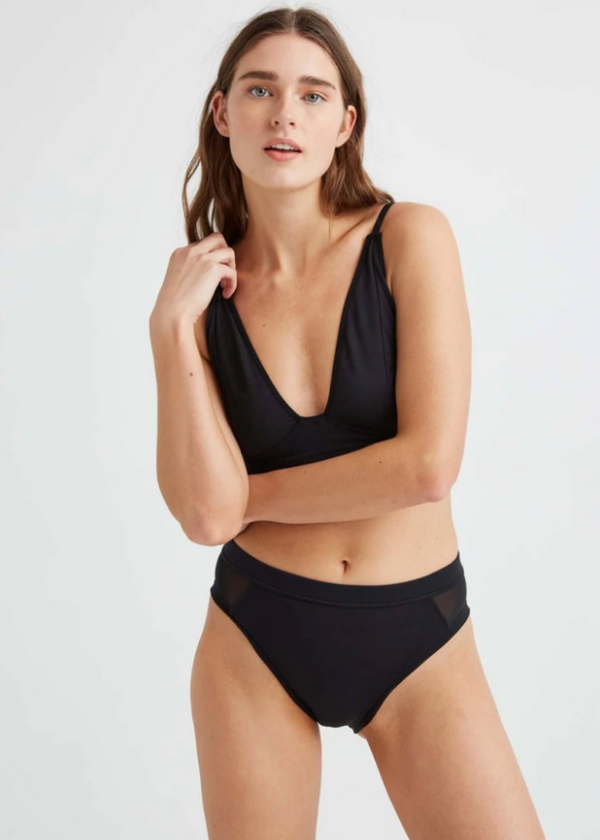 RICHER POORER | High Waist Brief in Black