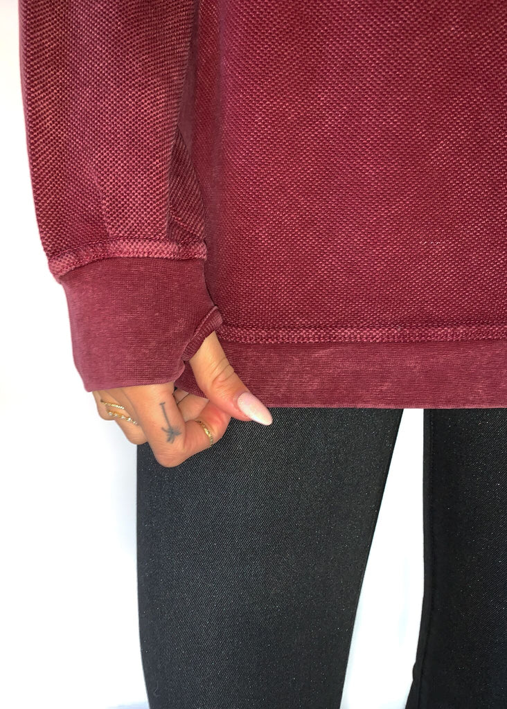 NASH COLLECTION | Red Acid Wash Sweater