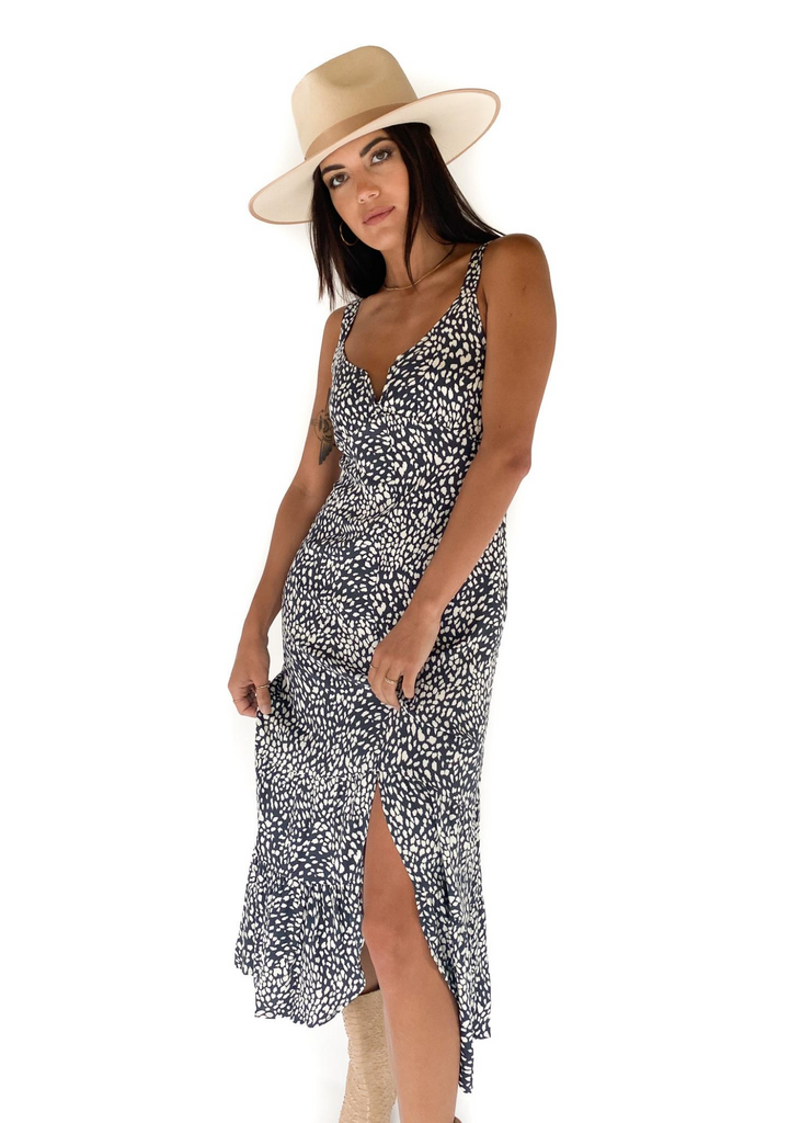SALTWATER LUXE | Breezy Midi Dress in Spring Cheetah