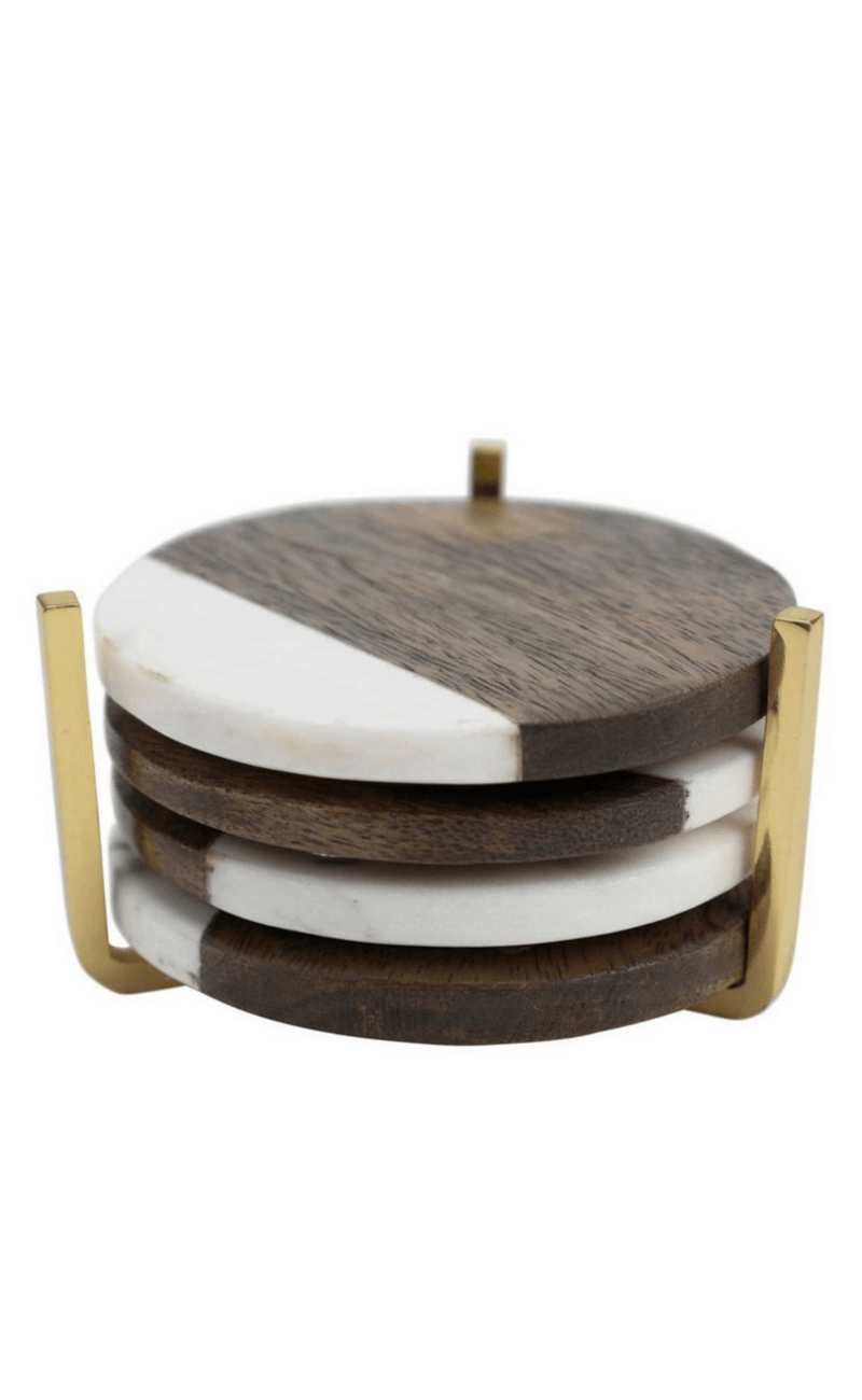 FLOOR 9  | Coasters White Marble