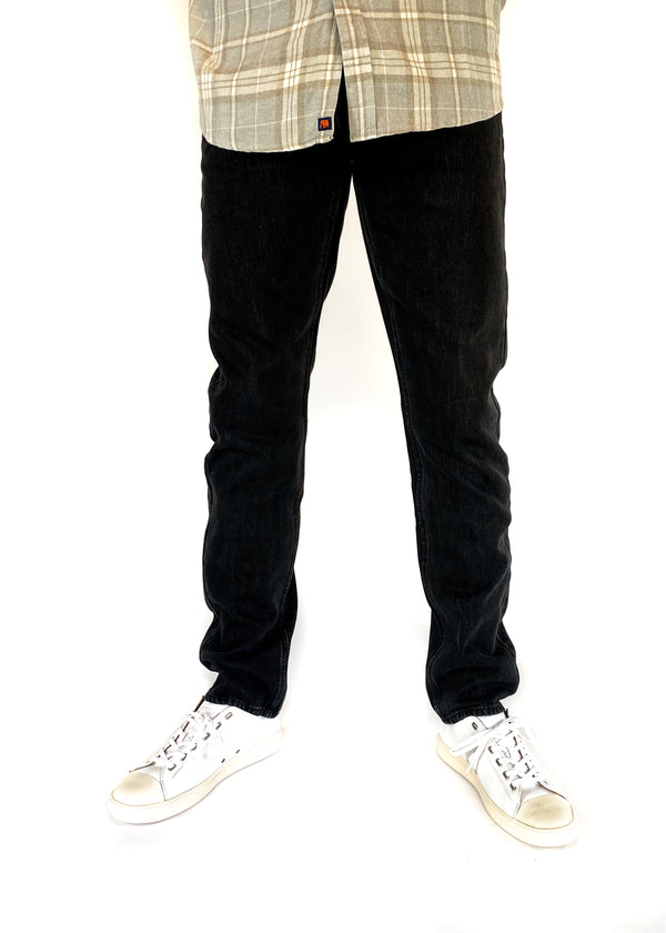 SATURDAYS NYC | Ronnie Slim Denim in Stone Washed Black