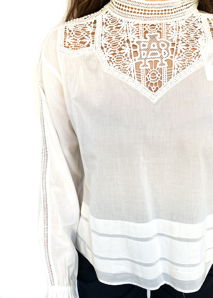SCOTCH & SODA | Lace Detail Top