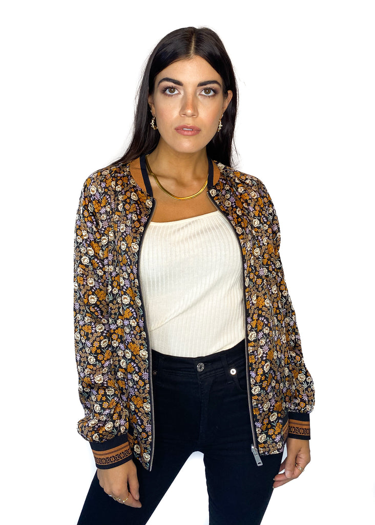 SCOTCH & SODA | Reversible Bomber Jacket in Floral