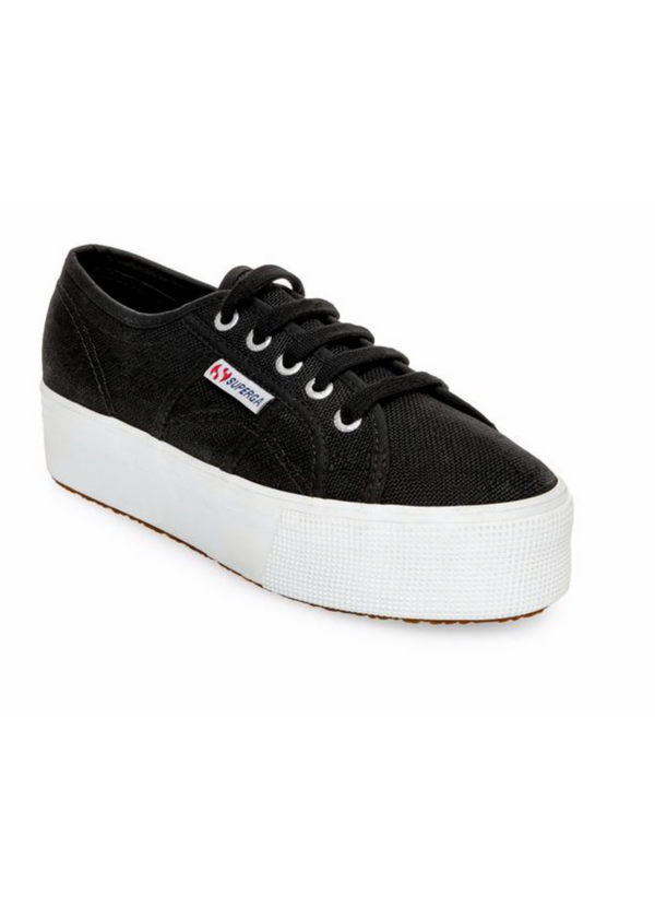 SUPERGA | Black Platform Sneakers