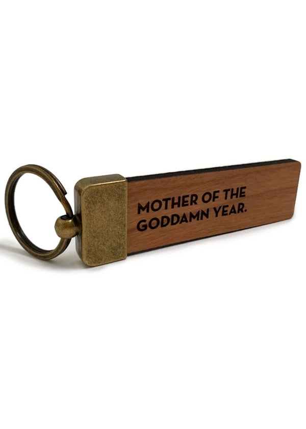Sapling Press | Mother of the Year Keychain