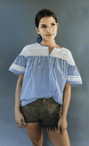 Scotch & Soda | Striped Short Sleeve with Lace
