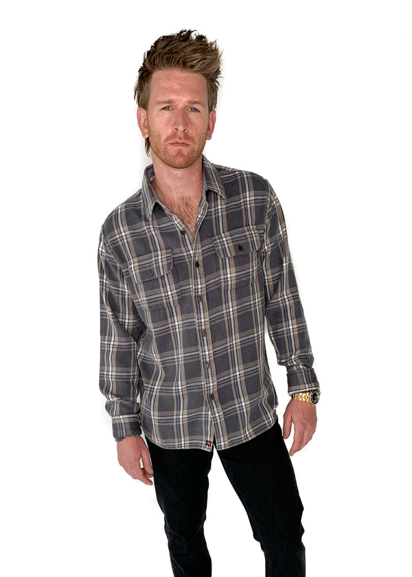 THE NORMAL BRAND | Mountain Shirt in Grey Plaid