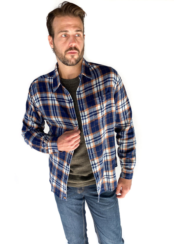 THE NORMAL BRAND | Stephen Button Down in Auburn Plaid