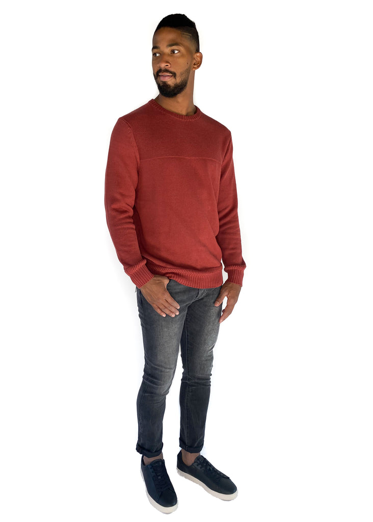 THE NORMAL BRAND | Stone Wash Pullover in Rust