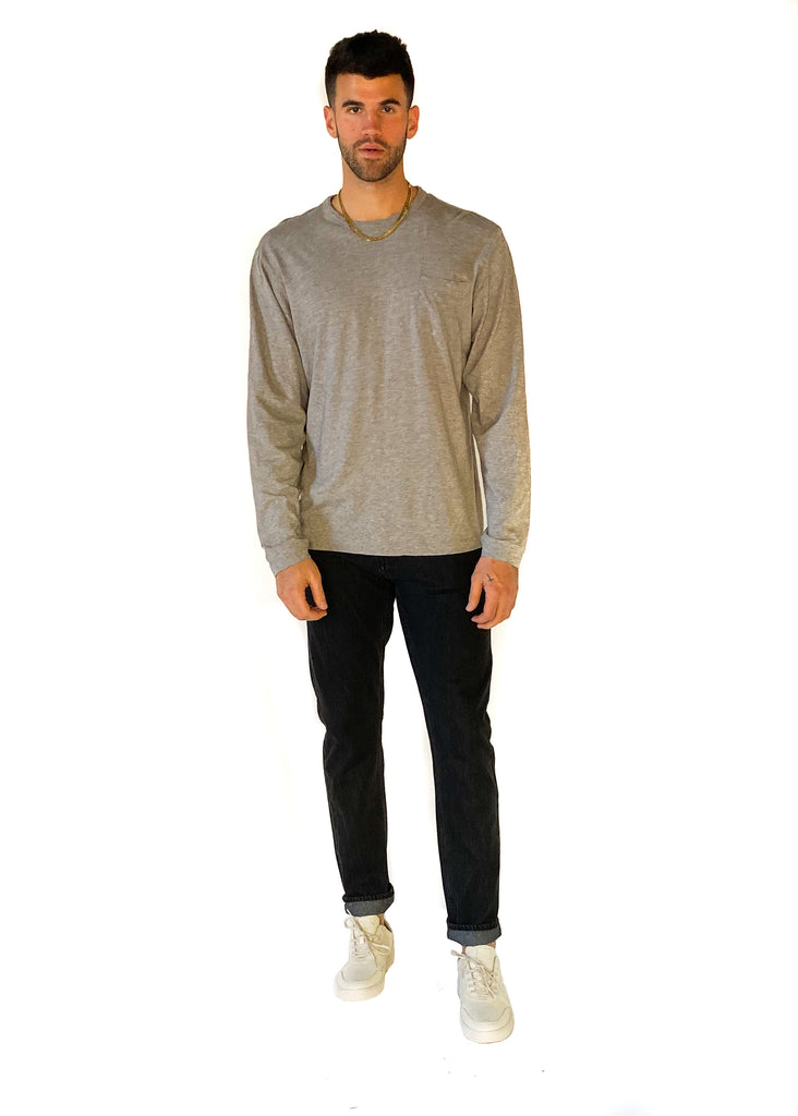 THE NORMAL BRAND | Slub Long Sleeve Pocket Tee
