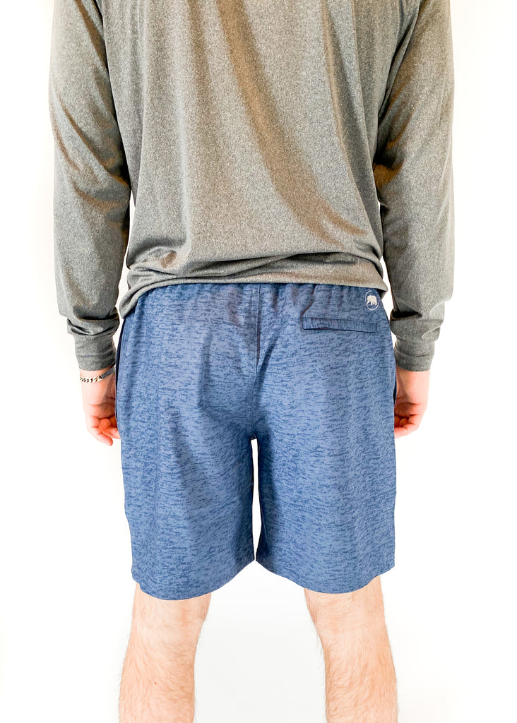 THE NORMAL BRAND | Heathered Hybrid Bear Shorts
