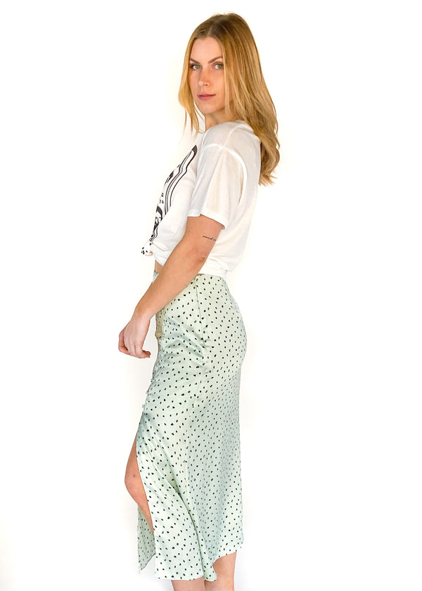 LUCY PARIS | Andrew Button Skirt in Mint