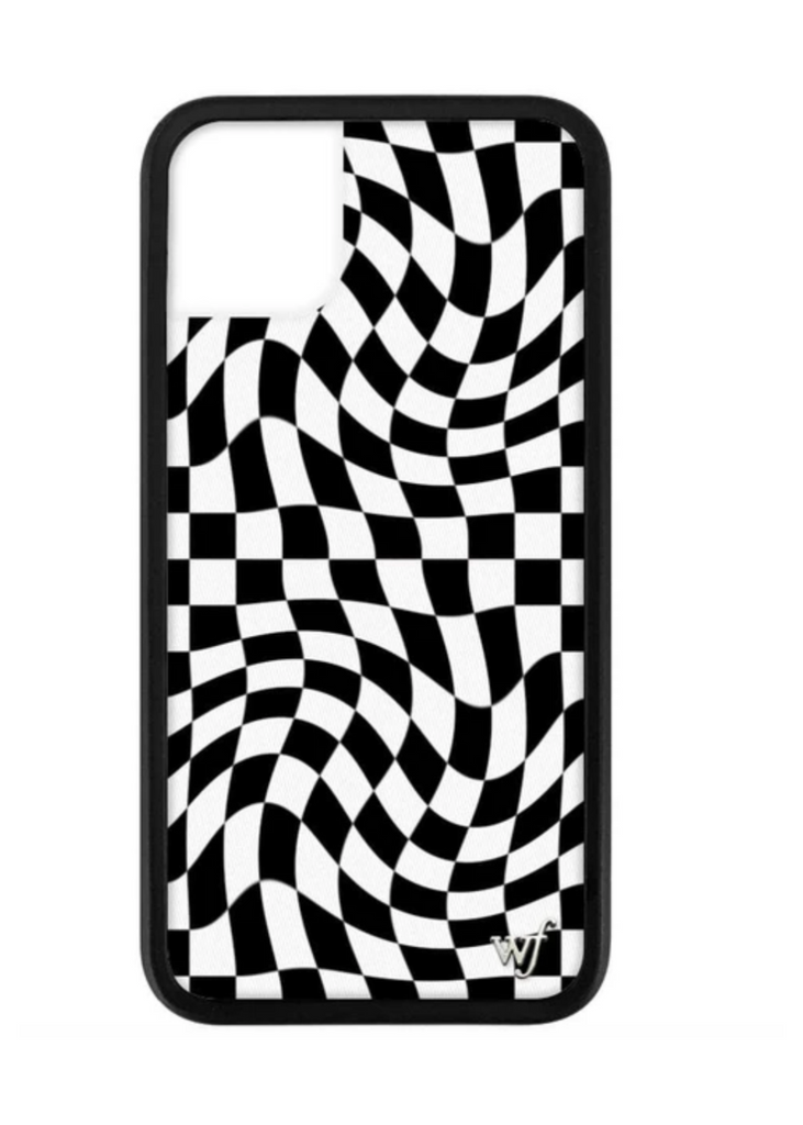 WILDFLOWER | Crazy Checkers iPhone Case