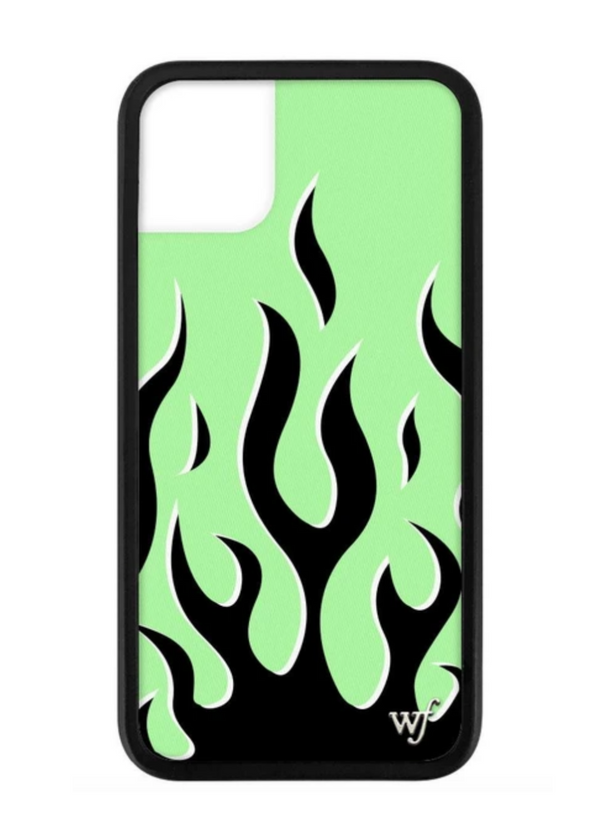 WILDFLOWER | Neon Flames iPhone Case