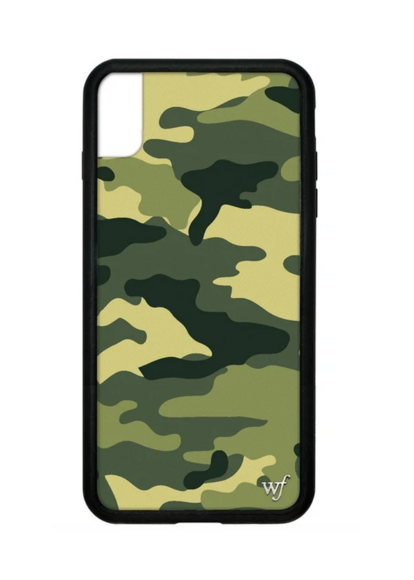 WILDFLOWER | Green Camo iPhone Case