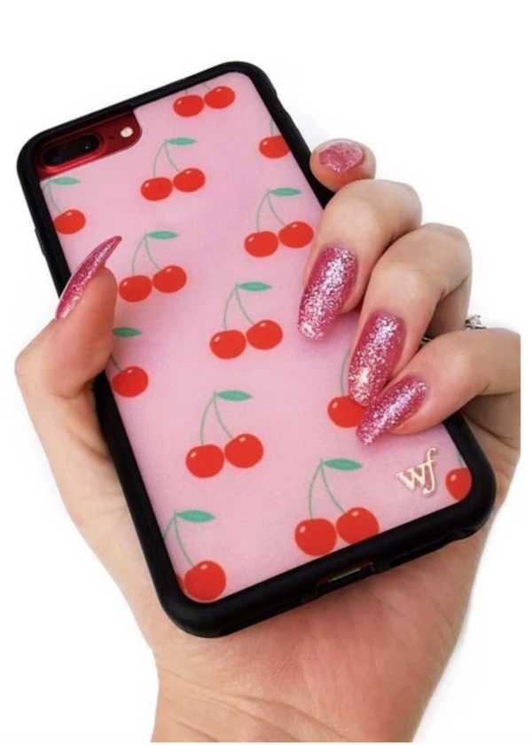 WILDFLOWER | Pink Cherries iPhone Case