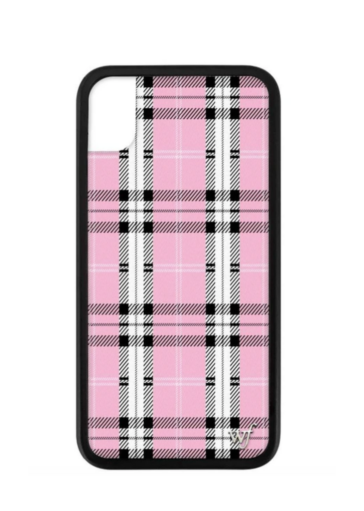 WILDFLOWER | Pink Plaid iPhone Case