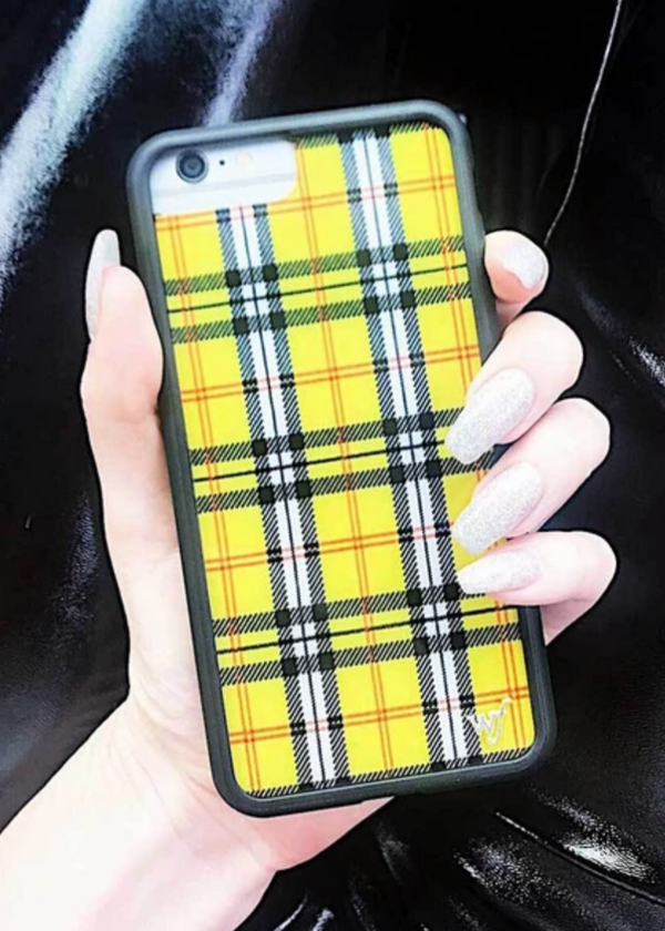 WILDFLOWER | Yellow Plaid iPhone Case