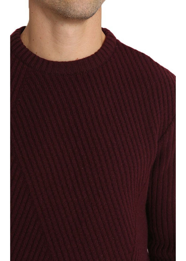 JACHS NY | Dynamic Rib Sweater in Burgundy