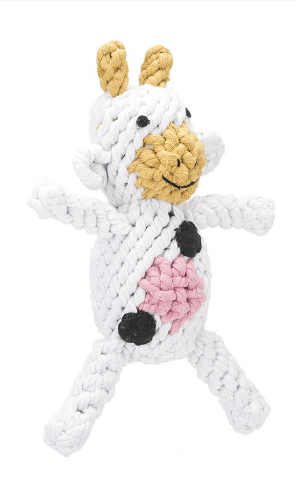 JAX & BONES | Claire the Cow Small Dog Toy