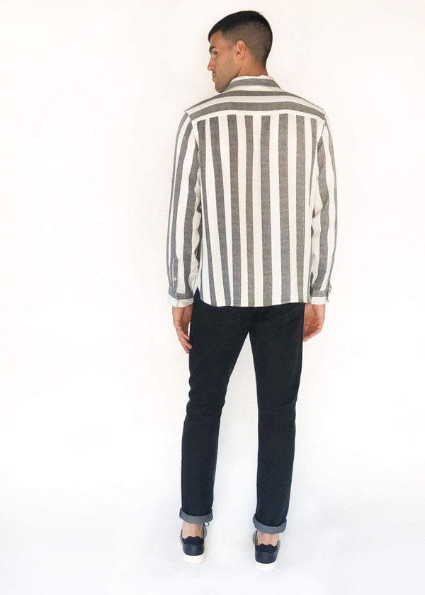SATURDAYS NYC | Perry Jumbo Stripe Shirt in Black