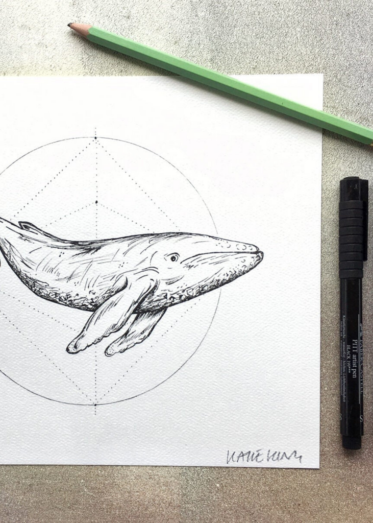 KATIE KING | Whale Print