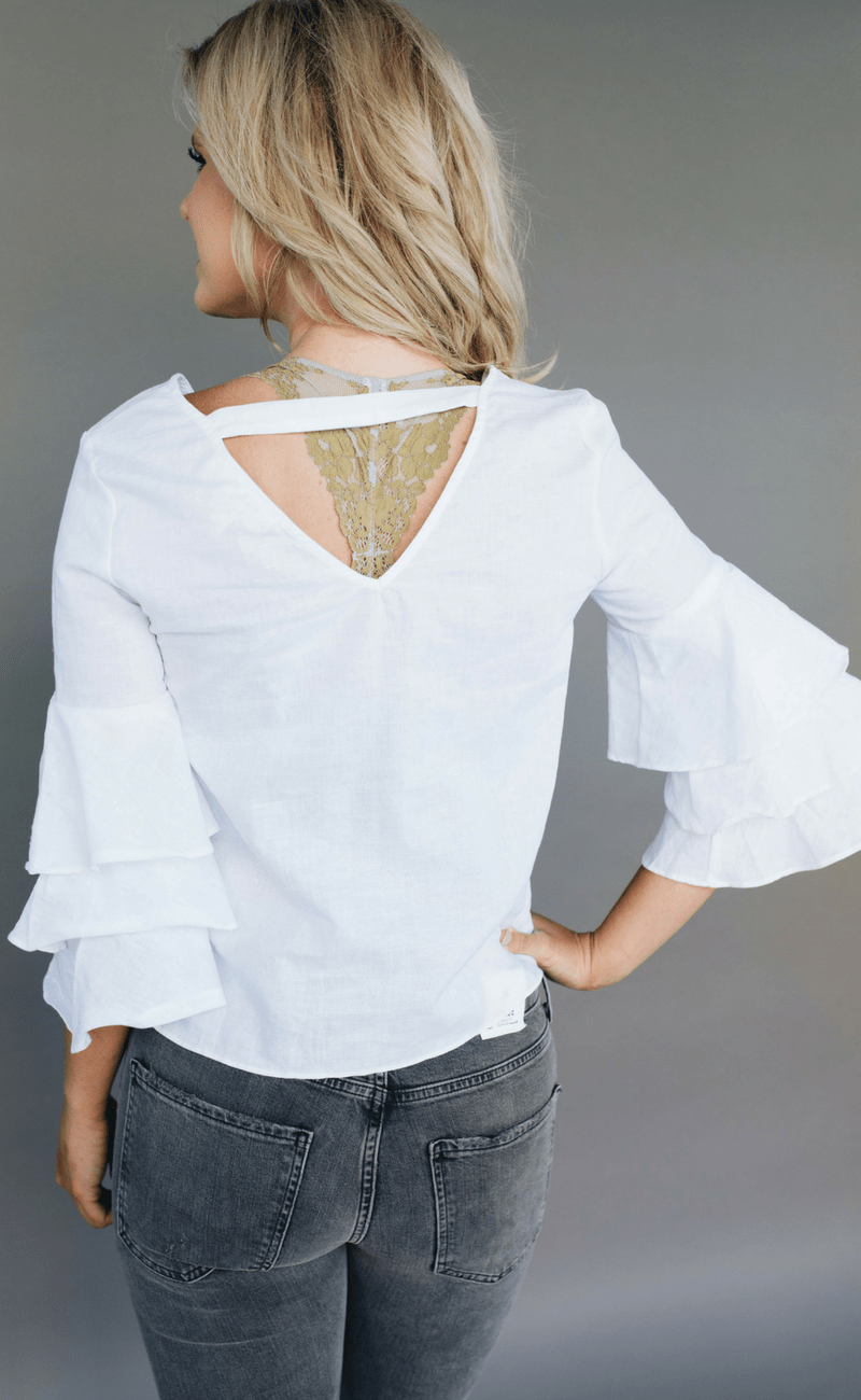 LOST IN  LUNAR | White Frill Top