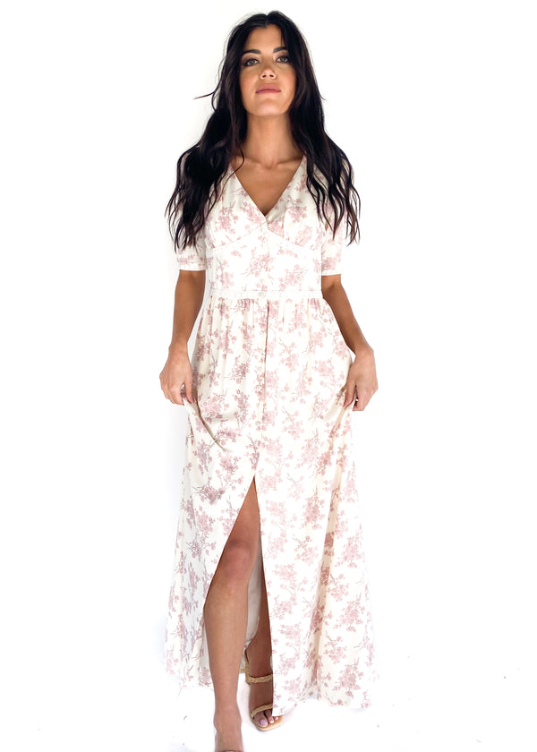 LUCCA | Lotus Button Down Maxi Dress