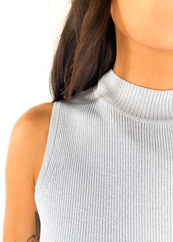 LUCY PARIS | Bailey Mock Neck Top