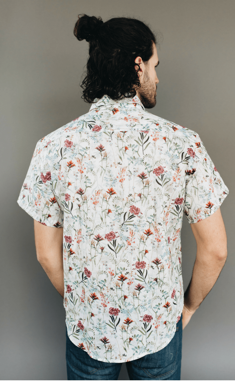 NAKED & FAMOUS | White Botanical Print