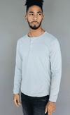 SATURDAYS NYC | Mitch Henley Pima L/S in Stone Blue