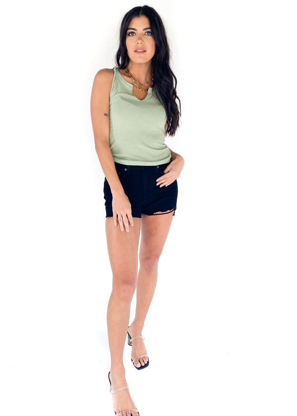 PROJECT SOCIAL T | Inca Rib Tank In Sage