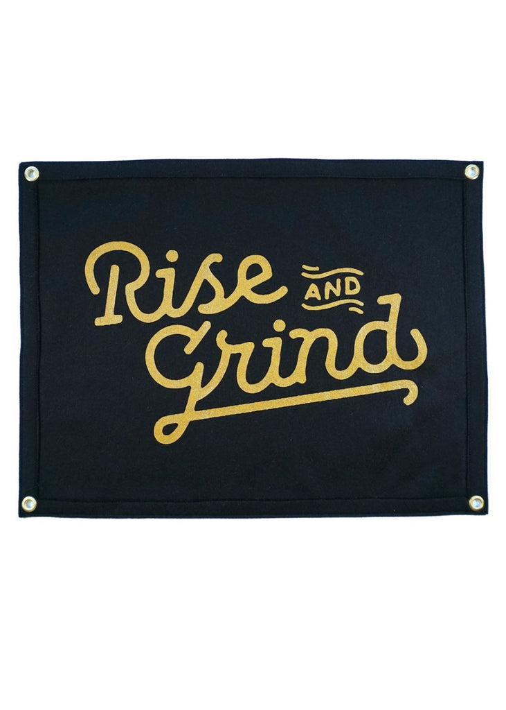 OXFORD PENNANT | Rise And Grind Camp Flag