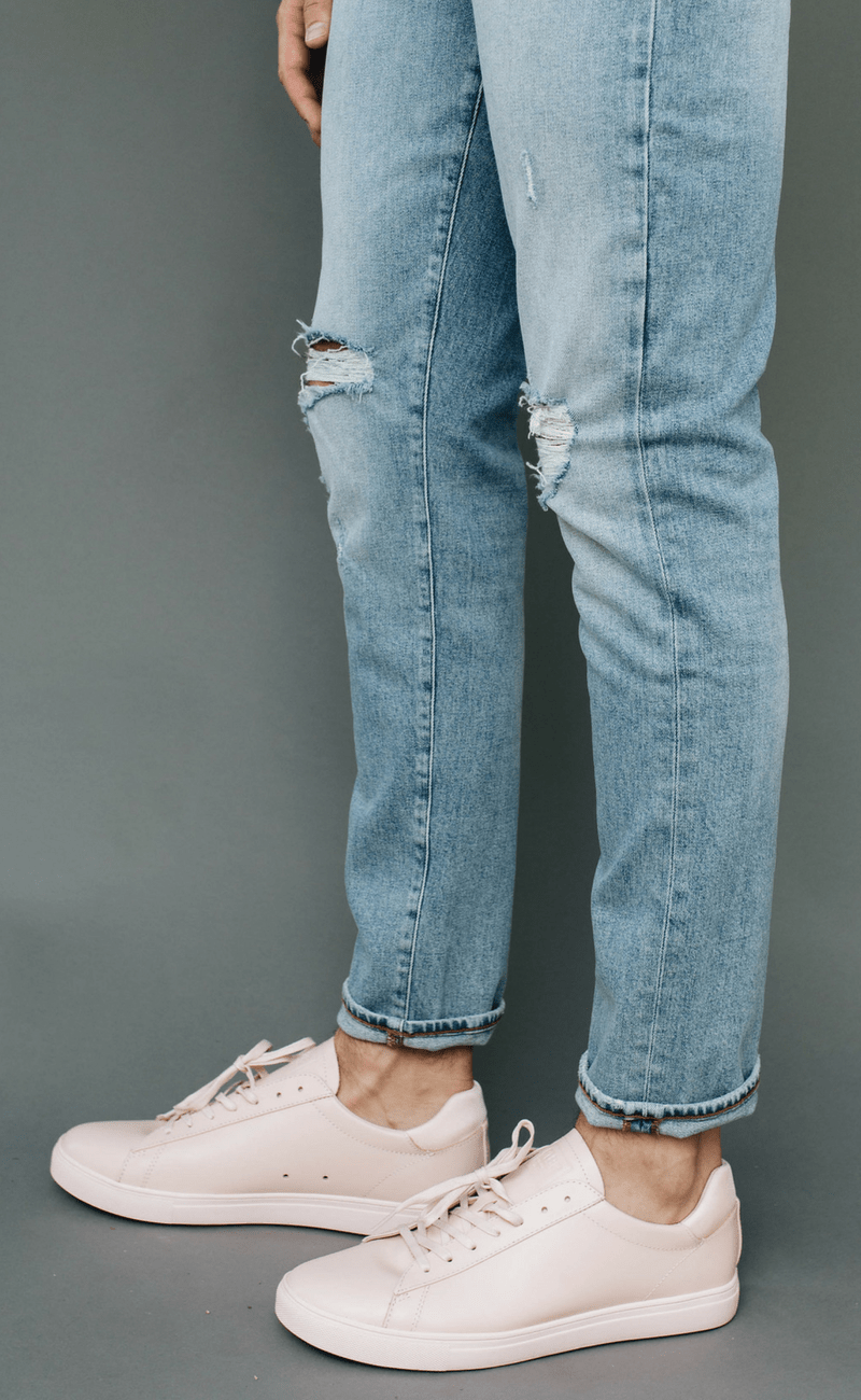 CLAE | Bradley Light Pink Oiled Leather