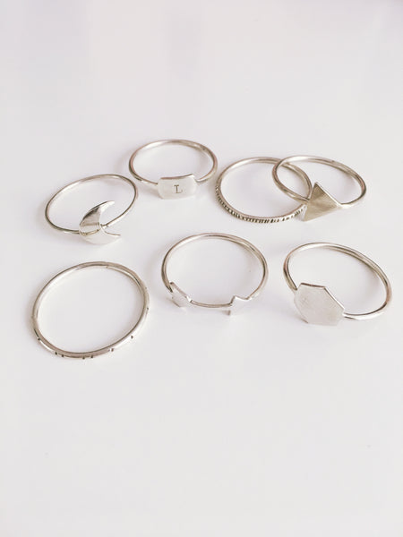 delicate silver rings : shimmery magic