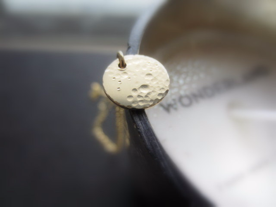 lullaby small full moon necklace in 14k solid gold