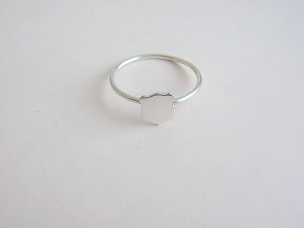 armour shield ring in sterling (large)