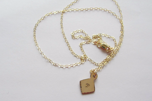 initial diamond necklace, gold and silver - andJules Jewelry