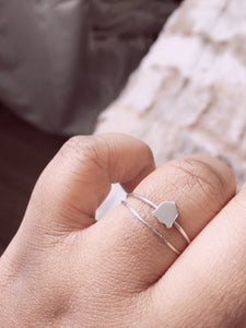 armour shield ring in sterling - andJules Jewelry